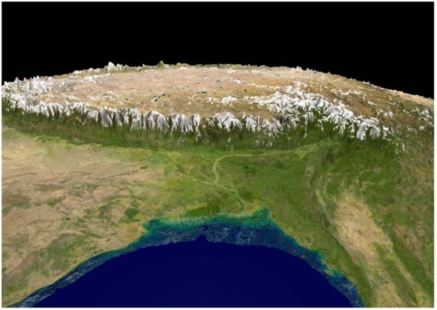 Figure1: Tibet: The Third Pole. Image © NASA & D. Miller