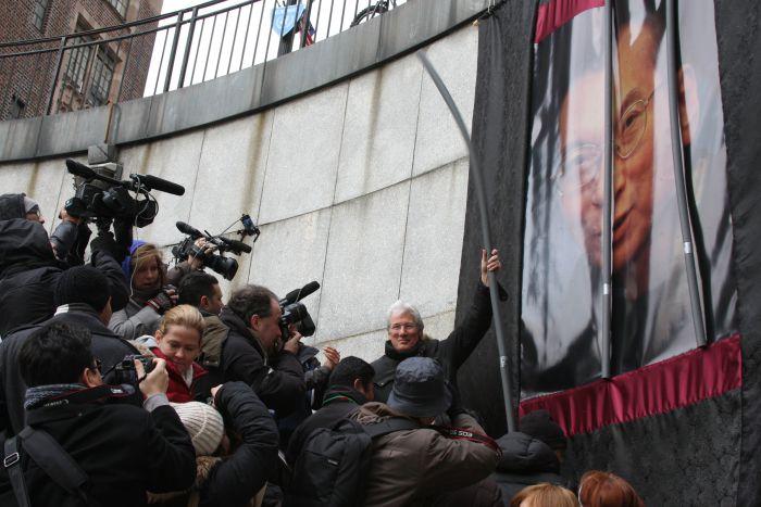 Richard Gere at Liu Xiaobo Rally