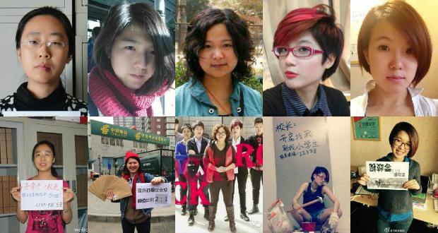 Left to right—both rows: Wang Man, Li Tingting (Li Maizi), Wu Rongrong, Zheng Churan, (Datu), Wei Tingting.