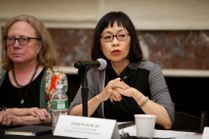 Sharon Hom's Panel 2 Intro Speech © NYU Photo Bureau: Hollenshead