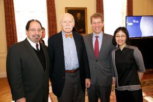 Ira Belkin, Jerome Cohen, Trevor Morrison, and Sharon Hom © NYU Photo Bureau: Hollenshead