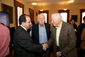 Ira Belkin, Jerome Cohen, and Bob Bernstein © NYU Photo Bureau: Hollenshead