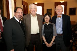 Ira Belkin, Bob Bernstein, Sharon Hom, and Jerome Cohen © NYU Photo Bureau: Hollenshead