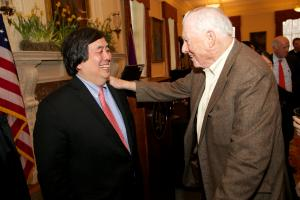 Harold Koh, and Bob Bernstein © NYU Photo Bureau: Hollenshead