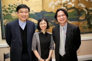 Sharon Hom, Nigel Li, and Jiunn-Rong Yeh © NYU Photo Bureau: Hollenshead