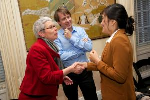Sophie Richardson, Carl Minzner, and Yu-Jie Chen © NYU Photo Bureau: Hollenshead
