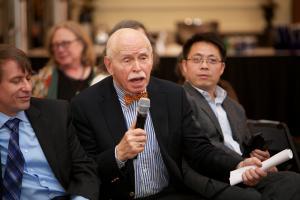 Jerome Cohen asking question at Panel 1 © NYU Photo Bureau: Hollenshead