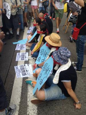 (Hong Kongers march for universal suffrage) Victoria Park to Tim Mei Avenue, July 1, 2015.