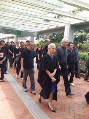 (Silent March to defend academic freedom) University of Hong Kong, October 6, 2015.