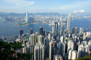 View of the Victoria Harbour from the Victoria Peak. by MK2010