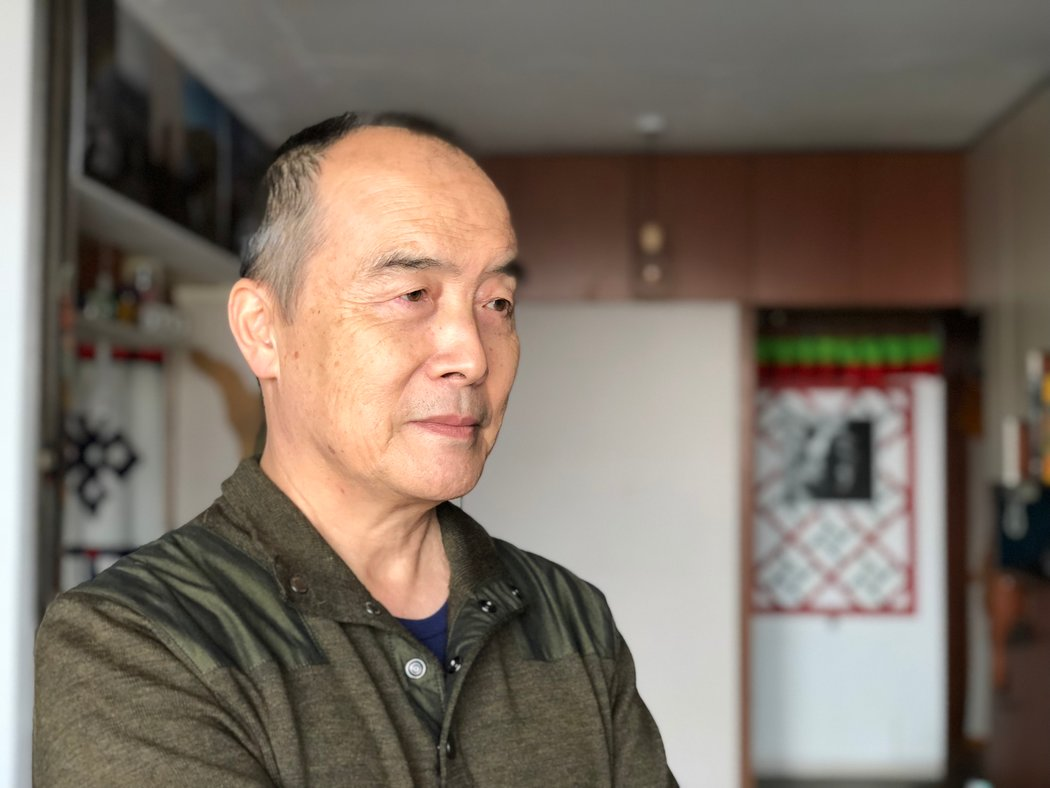 2018年1月17日,王力雄在北京家里。