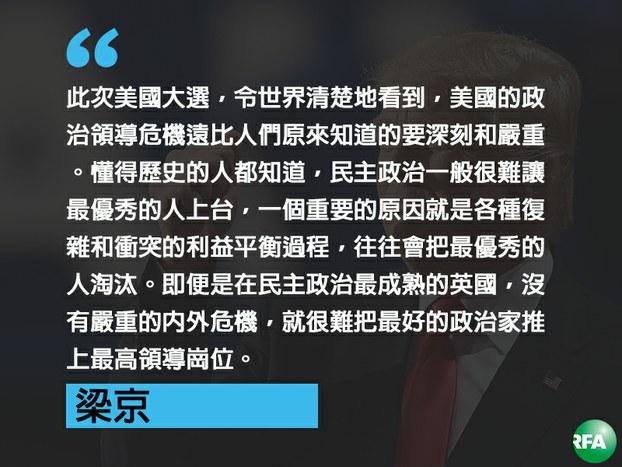 梁京评美国与世界的领导危机(法新社图/粤语部制图)