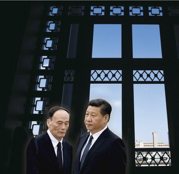 习近平(左)、王岐山。(AFP)