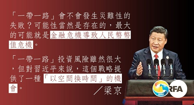 """【梁京评论】理解习近平""""一带一路""""战略的政治和经济逻辑(粤语部制图)"""
