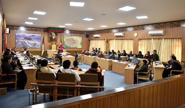资料图片:第十六届西藏人民议会第五次会议2018年3月在印度达兰萨拉举行(藏人行政中央网站)